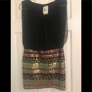 Beautiful beaded drop waist dress NEW W TAGS